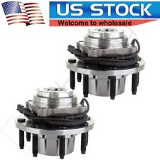 Pair(2) Front Complete Wheel Hub Bearing For Ford F-250 F-350 SD 4x4/4WD w/ ABS