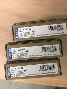 3 OFF OMRON H3DK-M2 0.1sec - 1200 hours  24/240V AC/DC TIMERS