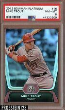 2012 Bowman Platinum #16 Mike Trout Angels RC Rookie PSA 8 NM-MT