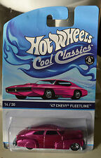 HOT WHEELS COOL CLASSICS 14/30 '47 CHEVY FLEETLINE SPECTRAFROST  NEW