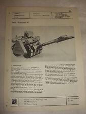 Original DDR Reklame Prospekt Datenblatt Vibrationswalze VVW 3400/3401 CSSR 1977