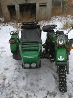 M72   Complete Sidecar Adventure Kit Off Road Bumper Bars Mudguard Bar