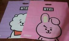 """LINE FRIENDS x BT21 2 x Shopping Bag Medium 18x16"""" RJ Mang Cooky Koya"""