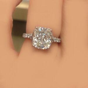 GIA Certified Cushion Cut Diamond Engagement Ring 2.00 Carat Platinum