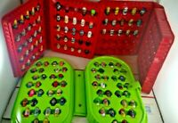 Lot of 125 Mighty Beanz Moose Toys with 3 Storage Carrying Case