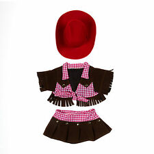 "Teddy Bear Cowgirl Outfit with Red Hat Clothes Fit 14""-18"" Build-a-bear !New!"
