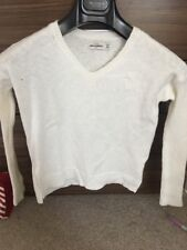 abercrombie and fitch Kids Cream V Neck Jumper Smooth Knit  Age 11/12 Worn Twice