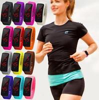 Unisex LED Sports Watch Digital Silicone Band Wrist Watches Men Women Wristwatch