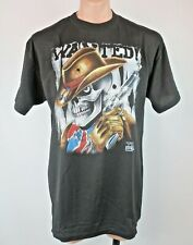 New listing Vtg 90s 3D Emblem Just Brass Scared To The Bone Skeleton Wanted T-shirt Xl New.