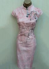 Karen Millen Pink Floral Jacquard Geisha Oriental Style Races Wedding Dress 12