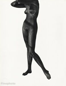 1987 Vintage Black Nude Female By Herb Ritts Body Woman Breast Photo Art 16x20