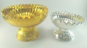 Buddha Worship Offering Pedestal Tray Buddhism Altar Thai Amulet Decor Plastic