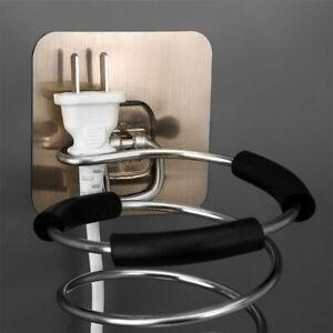 Spiral Hair Dryer Holder Rack Self Adhesive Blow Dryer Organizer Wall Hanger 1X