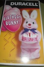 "Wissdom Duracell 12"" 30th BIRTHDAY BUNNY TV Figure great"
