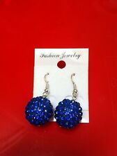 Hook Resin Round Costume Earrings without Stone