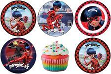 Miraculous Ladybug Eßbar Tortenbild Party Deko Muffinaufleger Cupcake Geburtstag