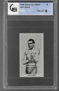 1938 KNOCK OUT RAZOR # 16 JEM MACE NM-MT 8 FAMOUS PRIZE FIGHTERS