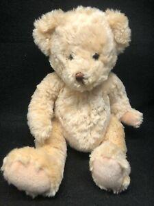 "Teddy Bear Plush Super Soft Stuffed Animal Lovey Toy Sitting 9"" Beans in Bottom"
