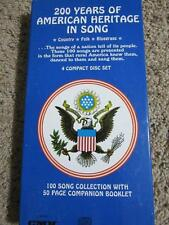 200 YEARS OF AMERICAN HERITAGE IN SONG 4 CD BOX SET BOOK TOM DOOLEY SHENANDOAH +