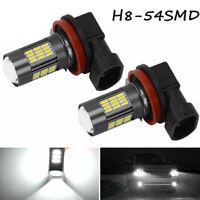 2 x White H8 LED Bulbs High Power 4014 62W LED Auto Car Fog/Driving DRL Light