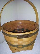Longaberger 1994 Jingle Bell Basket, Christmas Collection, w/ Protector