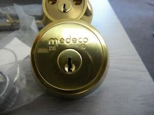 MEDECO DOUBLE DEADBOLT KEYED NEW OLD STOCK HIGH SECURITY COMMERCIAL