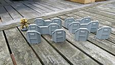 *SCENERY*  28mm 8 barricades 40K Necromunda Malifaux Bolt Action Shadow War