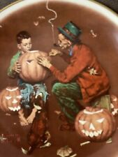 Gorham Norman Rockwell 1976 Fall-Ghostly Gourds Plate 10 1/2�