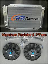 Aluminum Radiator & 2*Fans 79-93 FORD MUSTANG 80 81 82 83 84 85 86 87 88 89