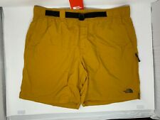 """The North Face Class V Belted  Short Citrine Yellow SZ XL 8"""" Inseam"""
