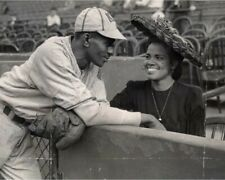 "Satchel Paige & Wife- 8"" x 10"" Photo- Kansas City Monarchs-Negro League Baseball"