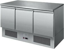 More details for ice-a-cool solid top saladette 3 door refrigerated prep counter fridge