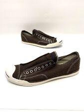 """Converse Jack Purcell Mens Brown Wool """"like"""" Fabric Sneakers Size 10.5"""