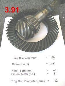 BMW E30 E36 188mm Differential *3.91 Ratio* Ring & Pinion Gears Medium Case LSD
