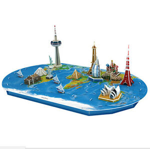 Magic Puzzle World Trip 3D World Map Puzzle Develop Logical Thinking Skills 6+