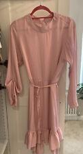 ZARA Pink Satin Midi Dress M L