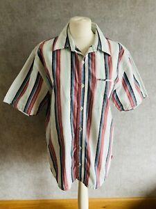 Mens Vintage Size Medium Striped Fat Face Shirt Casual