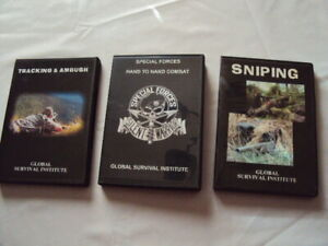 4  Lot Set Escape & Evasion Training Collection SNIPING TRACKING AMBUSH DVD