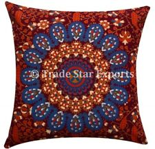2 Pcs Indian Mandala Cushion Cover 18X18 Decorative Square Throw Pillow Case