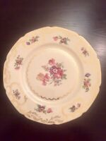 "EPIAG Royal Czechoslovakia Dinner Plates 11"" Beige Gold Pink"