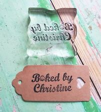 Personalised stamp - Baked By, Baking kitchen, Cake ideal for tags gifts for her