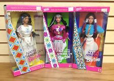 Lot of 3 ~ Native Indian American Barbie Authentic Style AMAZING DRESSES Squaw