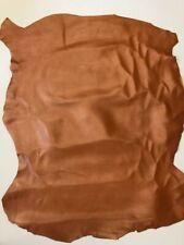 Premium French Soft Lamb Leather Hides 7-9 Sqft Orange/Tan