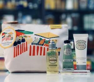 L'Occitane Almond Essential Gift Pouch Shower Oil Milk Concentrate Hand Cream