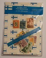 Finland Early 1900's to 1980's 52pcs Stamp Lot + Postcard