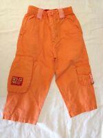 Pantaloni estivi - colore arancione - taglia 18/24  mesi - 80/86 cm - cotone -
