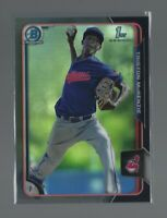 TRISTON McKENZIE  2015 Bowman Draft Chrome  ASIA BLACK REFRACTOR 1st RC  Indians