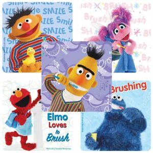Sesame Street Dental Stickers x 5 - Medical Patient  - Nurse/Doctors/Dentists