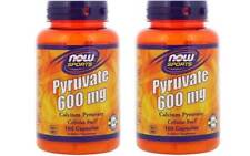 Now Foods - Pyruvate, 600 mg, 100 Capsules - 2 Packs
