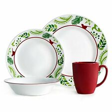 Corelle Dinnerware Set 16pc Microwave Oven Dishwasher Safe Chip Resistant #3691  sc 1 st  eBay : break and chip resistant dinnerware - pezcame.com